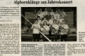 Unterhaltungsabend 2009 Zeitungsartikel