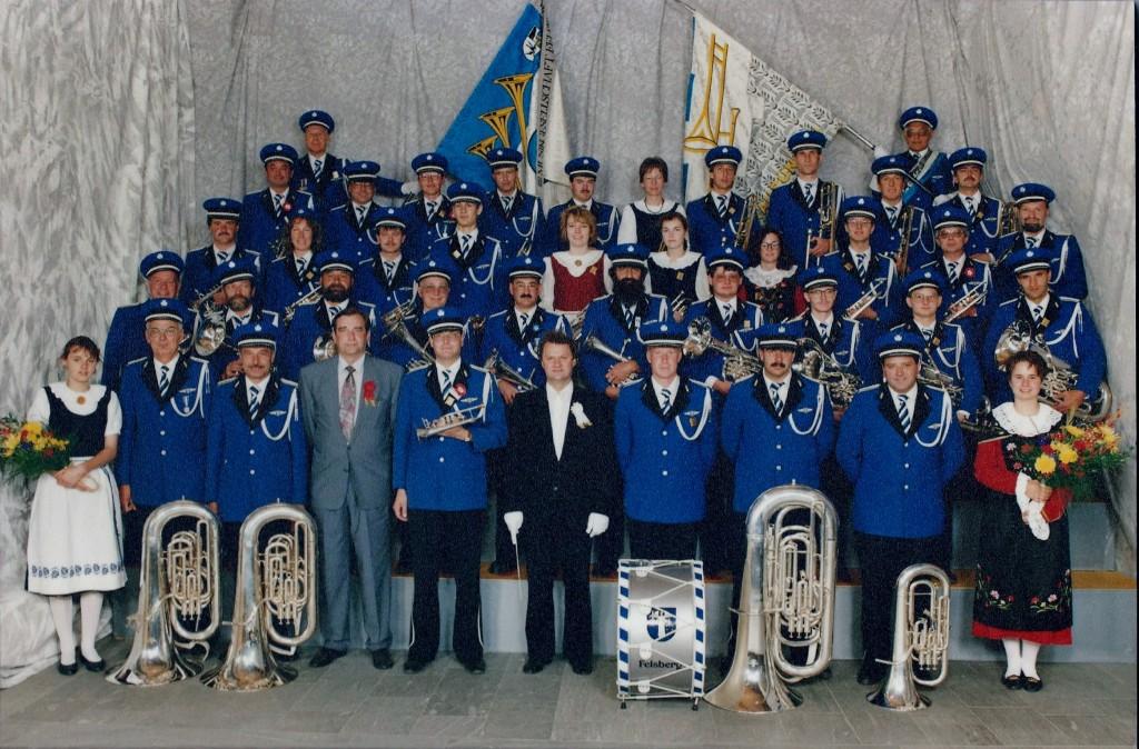 Kantonales Musikfest Felsberg 1992 mit Dirigent Hansruedi Waltle