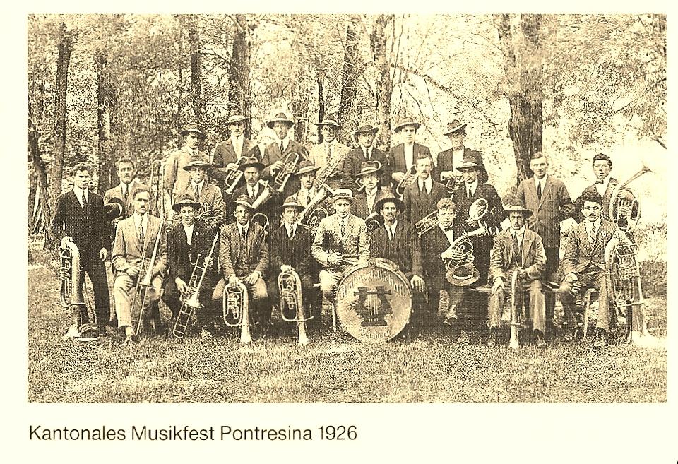 Kantonales Musikfest Pontresina 1926