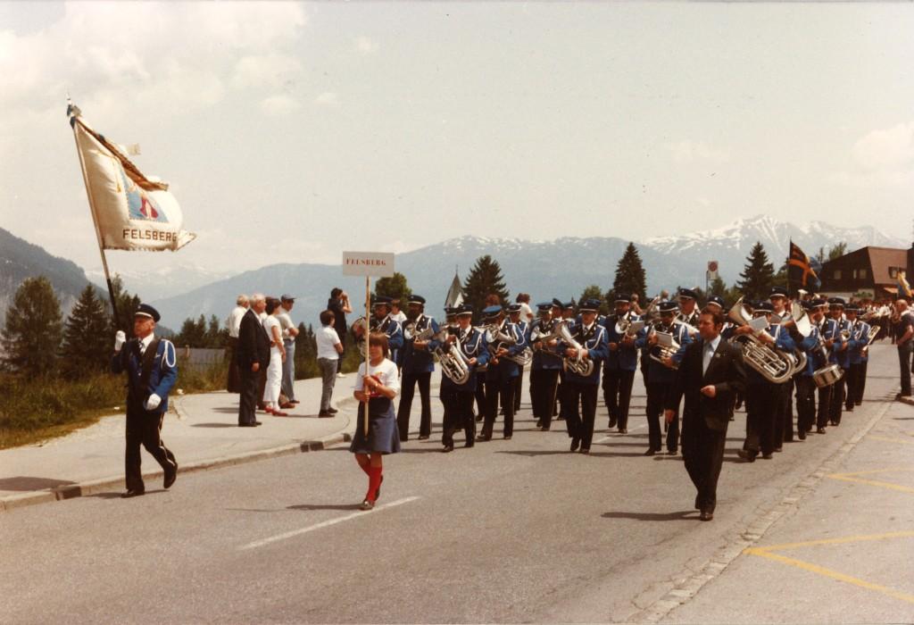 Kantonales Musikfest Flims 1983 mit Dirigent Hans Fisch