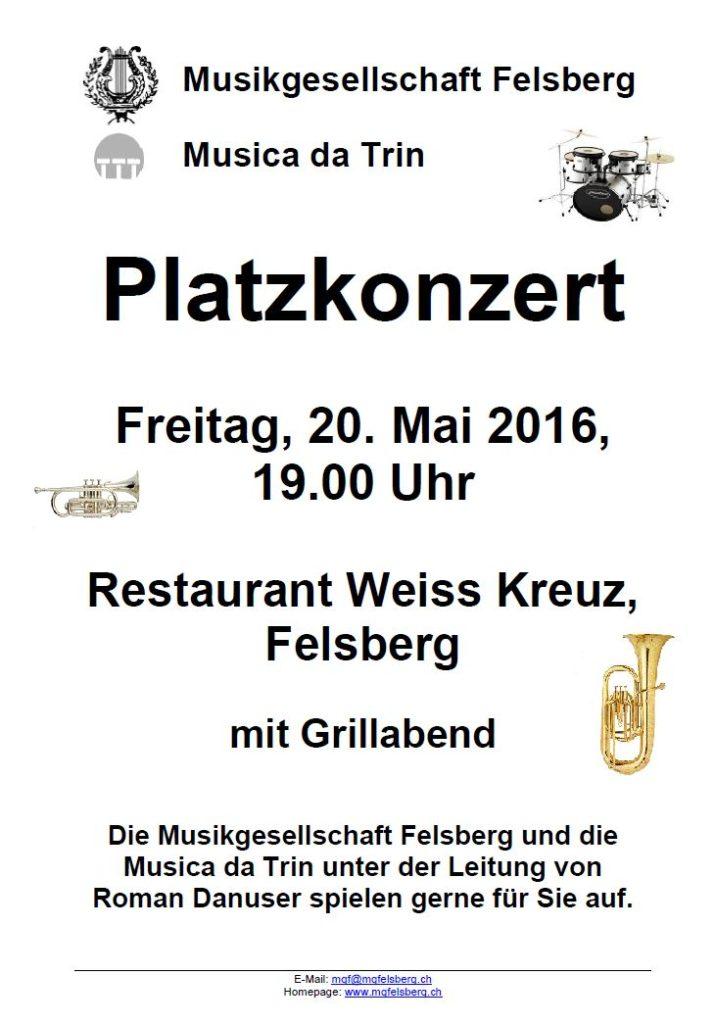 Flyer Platzkonzert Weiss Kreuz 20.05.2016